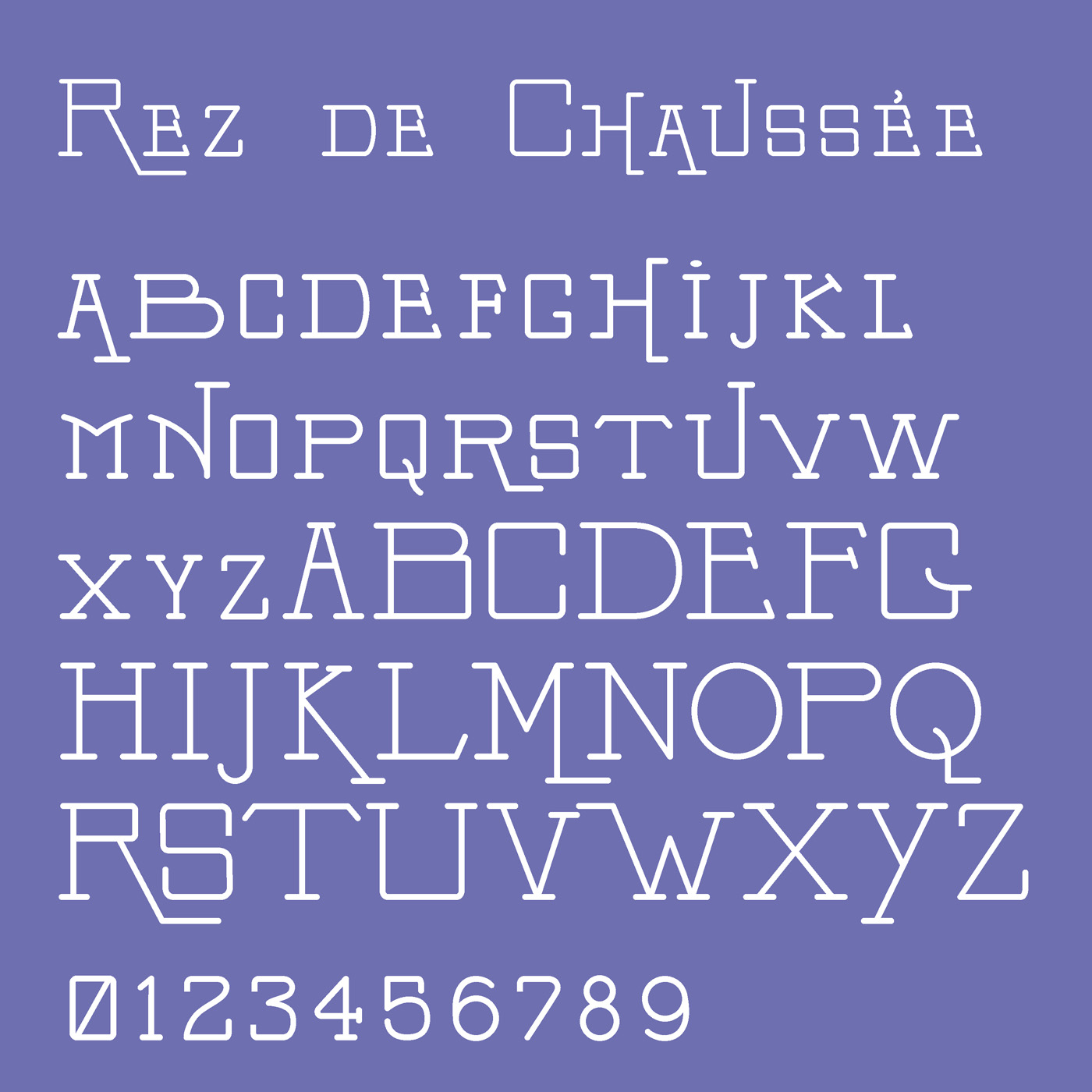 Rex de Chaussee typeface designed by Thomas Bush