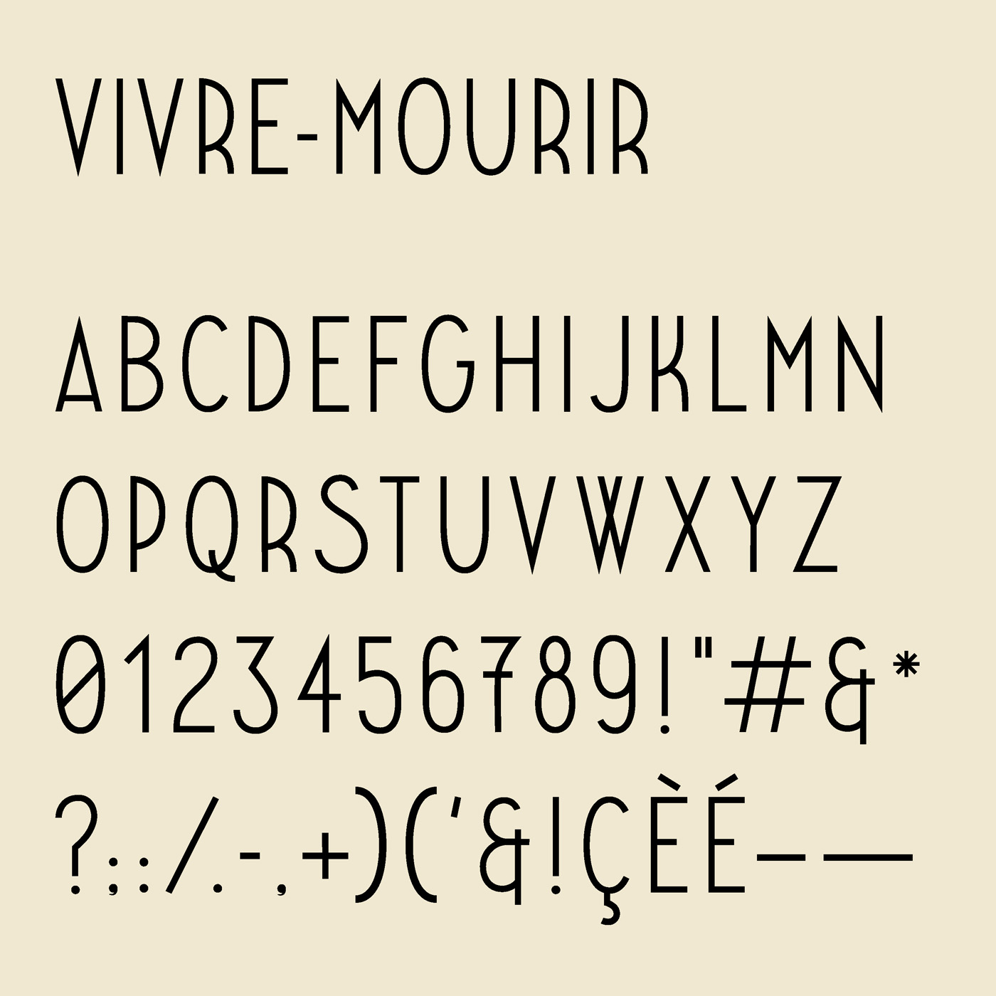 Paradis typeface designed by Thomas Bush